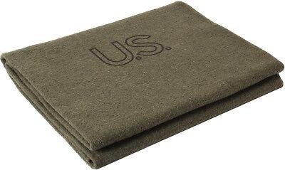 """Olive Drab Genuine GI US Virgin Wool Blanket 62"""" x 82"""""""