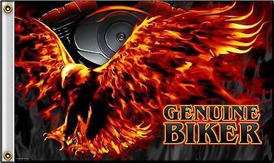 EAGLE IN FLIGHT GENUINE BIKER 3X5 MOTORCYCLE FLAG #397 NEW wall hanging banner