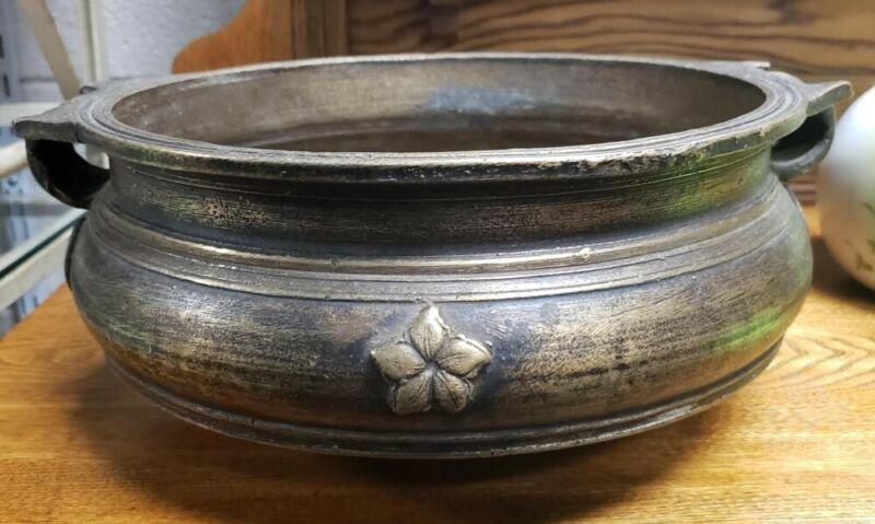 Circa 1920 South Indian Bronze Uruli/Varpu Bowl