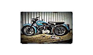 1956 triumph tiger cub Bike Motorcycle A4 Photo Poster