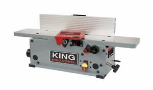 "Brand New 6"" Benchtop Jointer With Helical Cutterhead"
