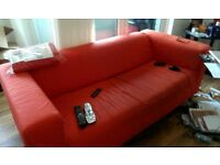 New in box IKEA 2 seat sofa and 1 used assembled, Klippan, washable removable cover