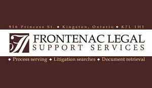 Process Serving, Court Searches and Filings - Frontenac Legal Kingston Kingston Area image 1