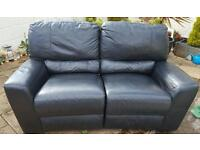 Leather 2 seater recliner sofa free to collector