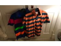 2 men's boys polos Lacoste Ralph Lauren never worn