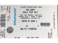 1 Wowpit Ticket (Standing) for The Vamps Belfast 10/05/17