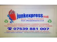 RUBBISH REMOVAL,HOUSE/OFFICE/SHOP/PUB CLEARANCE,WASTE DISPOSAL,GARAGE/GARDEN,TENANT JUNK COLLECTION