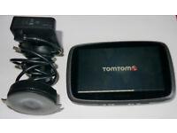 "TomTom Go 500 Sat Nav GPS 5"" Lifetime Update, Full Europe with UK & Ireland Maps, Set - used"