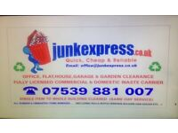 07539 881007-RUBBISH REMOVAL, GARDEN SHED/GARAGE CLEARANCE,FURNITURE/JUNK COLLECTION,WASTE DISPOSAL