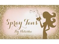 Spray tan introductory offer for April.
