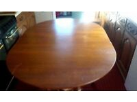 Wood Fold-down Dinning Table, in good condition
