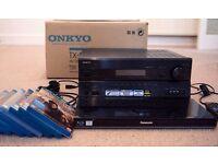 Bundle: ONKYO AV Receiver TX-SR607 7.2 channel + Panasonic DMP - BDT310 3D Blu ray Player + 8 blurys