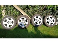 Audi A6 A3 alloy wheels with tyres 205 55 r16 - set of 4