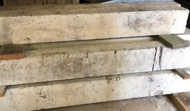 Selection of concrete/steel lintels - assorted lengths.
