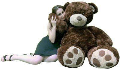 Big Plush Valentine's Day 5 Foot Brown Giant Teddy Bear Soft Life Size Hug Buddy - Life Size Valentines Day Teddy Bear