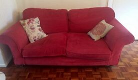 Large red sofa Penarth