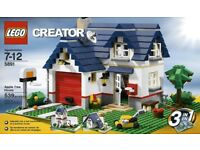 LEGO CREATOR 5891 3 IN 1 HOUSE SET WITH ALL PIECES AND INSTRUCTIONS