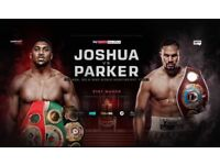 Anthony Joshua vs Jospeh Parker tickets