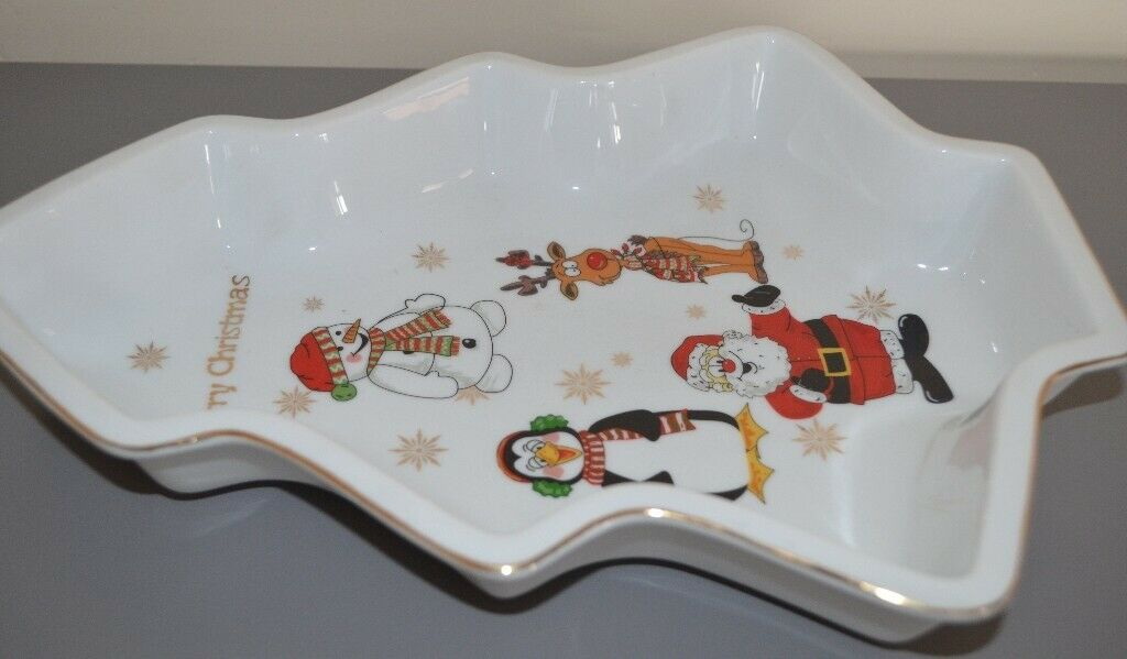 Novelty Ceramic Christmas tree shaped dish | in Leicester, Leicestershire |  Gumtree