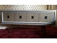1960s marble effect sideboard/dresser