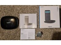 black Logitech harmony hub. used but in perfect working condition