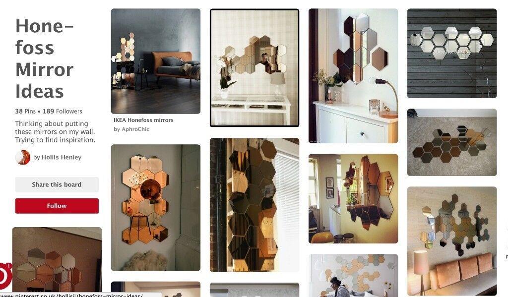 Ikea Honefoss Hexagon Mirrors 2pk Unused