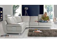 Light Grey Leather Sofa (Sofology)