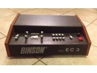 BINSON EC3 Vintage Analog Disc Echo Very Rare EC 3