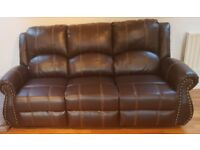 MOVING SALE - Brand New Never Used - Brown Footrest Recliner Sofas