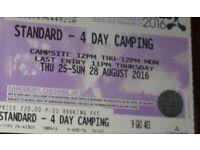 Creamfields standard 4 day camping