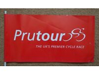 Paper flag from the 1999 Prudential cycling Tour of Britain