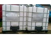 IBC water storage, 1,000 litre , 1 tonne