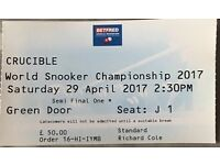 crucible world snooker championship 2017 semi final ticket.