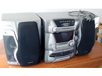 Panasonic Hi-Fi System with Tuner, Twin Cassette Decks, 5 CD changer, Remote and Separate Speakers