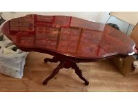 Elegant but solid dining table