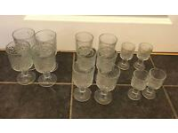 Large collection of assorted glasses