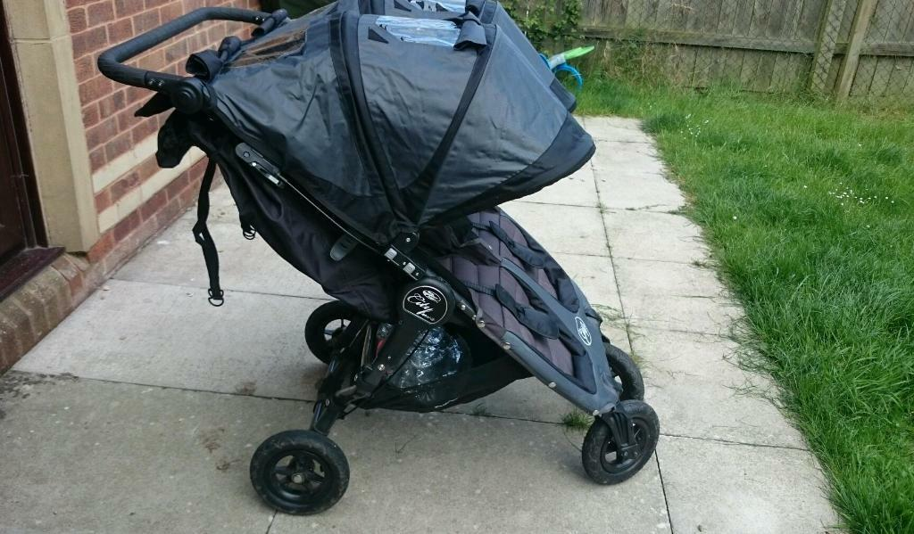 Baby Jogger City Mini Gt Double With Snukie Footmuffs And