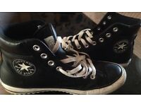 Men's leather converse boots