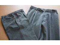 2 pairs of M&S Boys school trousers - charcoal (age 13-14)