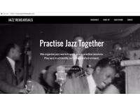 Practise jazz in a group - workshops led by jazz musicians-piano,drums,bass,saxophone,trumpet,guitar