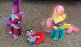 My Little Pony Power Pony Set with Spike Power Ponies Playset £4 ideal gift