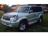 2001 TOYOTA LAND CRUISER COLORADO VX AUTO TOP SPEC FRESH MOT JUST SERVICED 15 STAMP SERVICE HISTORY