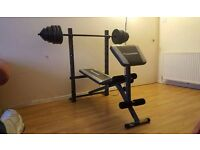 Maximuscle weight bench great condition with 100kg weights