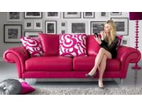 Burlesque Leather Sofa   3 Seater   2 Seater And Puffy