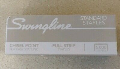 Swingline Staples For Standard Staplers 5000 Count Chisel Point Ln 14 New