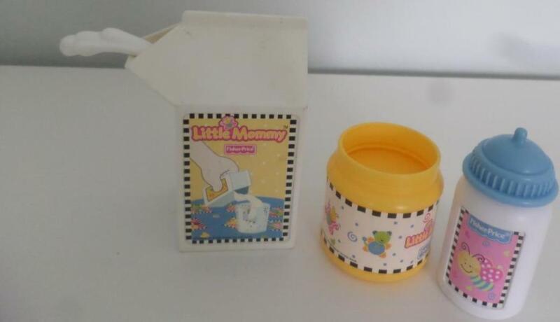 Fisher Price Little Mommy Milk Bottle Jar LOT