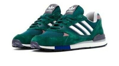 adidas Quesence Casual Retro Trainers Green / White / Light Green B37851 RRP £89