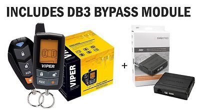 VIPER 5305V 2 WAY LCD VEHICLE CAR ALARM KEYLESS ENTRY REMOTE START FREE DB3