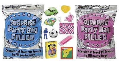 Überraschung Partytüte Füller 30er Pack+ Geschenke Pink/Blau Kinder/Geburtstag/
