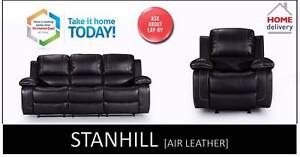 Brand NEW Fabric / Air Leather Recliner  Lounge Set  1R/2RR/3RR Salisbury Brisbane South West Preview